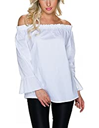 Suchergebnis auf Amazon.de für  weisse bluse - Label by Trendstylez ... 6973f05049
