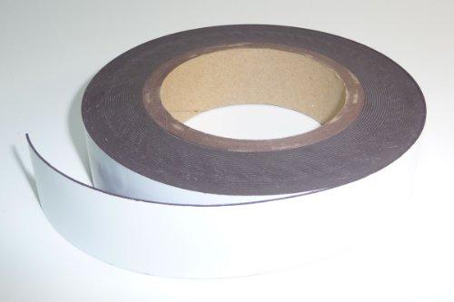 magnetisches Etikettenband 30mm x 10m, weiß
