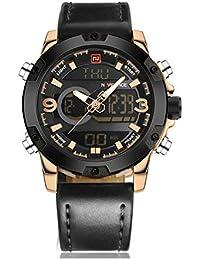 8c9c0aef9e80 Reloj deportivo analógico digital de moda para hombre Reloj con pantalla  dual