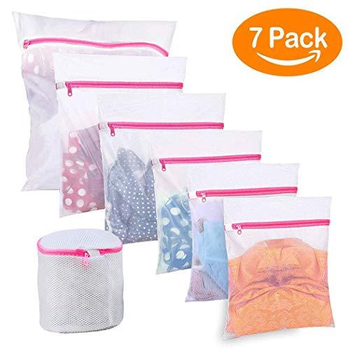 BoxLegend 7 Stück Wäschenetz Wäschesack Wäschetasche Waschbeutel für Empfindliches Bluse Strumpfwaren BH Unterwäsche Socken mit Reißverschluss - 2 Stück-hemd