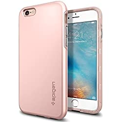 Spigen Coque pour iPhone 6 / 6s [Thin Fit Hybrid] Rose Anti-Rayure Anit Choc, Coque pour iPhone 6 / 6s (SGP11781)