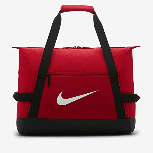 Nike Nk Acdmy Team M Duff Gym Duffel Bag, Unisex Adulto, University Red/Black/(White), MISC