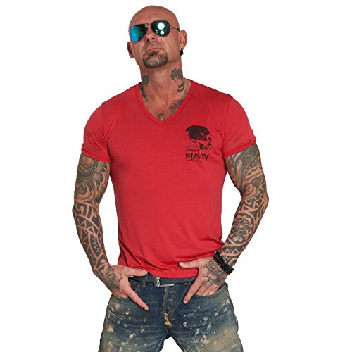 Yakuza Original Herren Burnout V-Neck T-Shirt