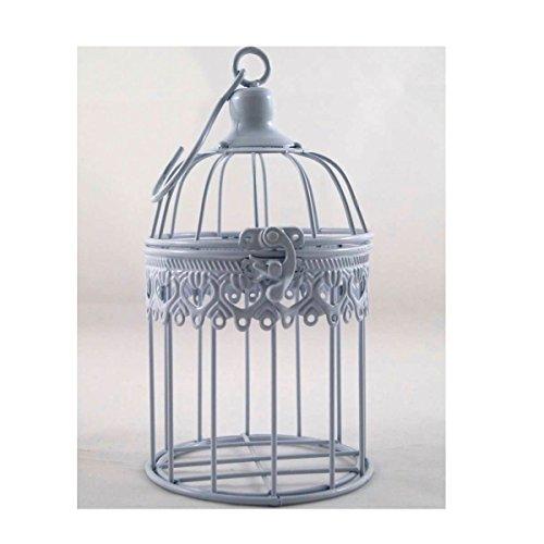 Décoration de cage à oiseaux en métal p-694 blanc 21 x 11 cm