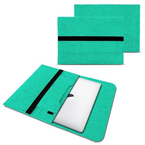 NAUC Laptop Tasche Sleeve Hülle Schutztasche Filz Cover für Tablets und Notebooks Farbauswahl kompatibel mit Samsung Apple ASUS Medion Lenovo, Farben:Mint, Größe:12.5-13.3 Zoll