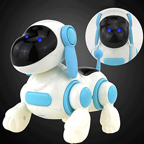 Mopoq Kinder Elektro Mini Toy Dog Will Walk Singing Dog Barking 1 Year Old Baby Übernehmen Elektro Puppy Small Animal Männlicher Schatz Weibliches Schatzspielzeug (Color : Blue)