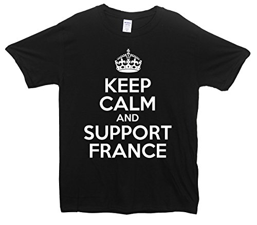 Keep Calm and Support France T-Shirt Schwarz