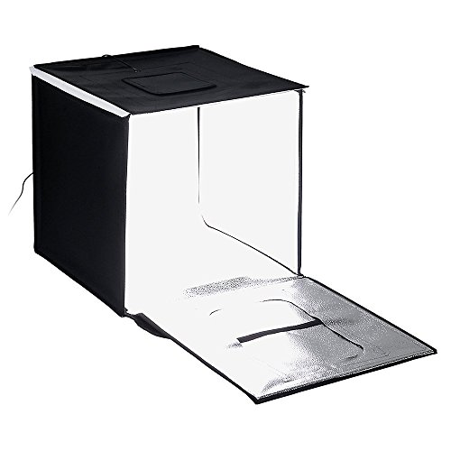 Fotodiox Pro LED Studio-in-a-Box für Tisch Top Fotografie, schwarz, 20x20 (50x50cm) (In Studio Box A)