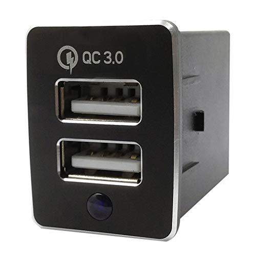bloatboy Dual Port USB Kfz Ladegerät 12V-24V USB Sockel Universal Ladegerät Adapter Geeignet für Neue Nissan Modelle (Schwarz)