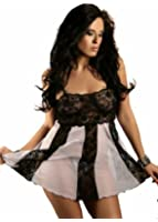 Nine X - Plus / One Size Sexy Lingerie Lace & Mesh Babydoll 3 colours