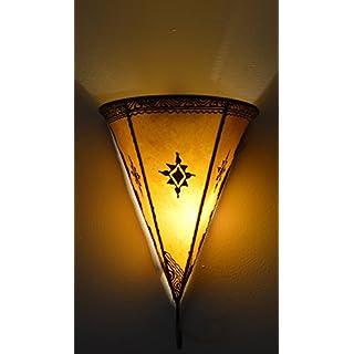 Argan Moroccan Henna Wall Light - Standard Triangle - Yellow - W 19 H30 L15