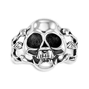 Couro Silver Gents' Skull Ring - Size R