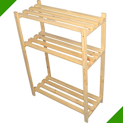 90 cm x 65 cm x 28 cm 3 Böden Holzregal ideal für Stiefel Schuhregal