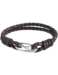 Rafaela Donata Unisex-Armband Edelstahl Leder 60907012