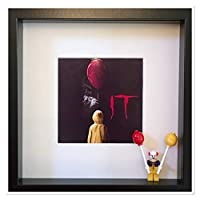 IT Pennywise Georgie Yellow Raincoat Lego 3D Box Frame **Including Minifigure** Stephen King Horror Film Movie Clown Picture
