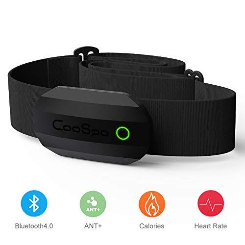 CooSpo Brustgurt Bluetooth & ANT+ mit Herzfrequenzfunktion IP67 Wasserdicht Heart Rate Monitor Chest Strap HRM Sensor für Garmin, RUNTASTIC, Wahoo, Elite HRV, Endomondo