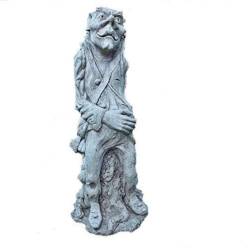 steinfiguren-neumann STEINFIGUR Pixi TROLL MUSHROOM PILZ FANTASYFIGUR GNOM GARTEN STEINGUSS