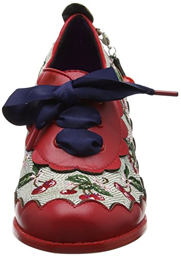 Poetic Licence by Irregular Choice Cherry Fizz, Scarpe Brogue Donna Red (Red/Cream)