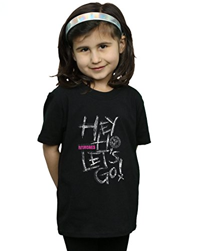 Ramones Mädchen Hey Ho Let's Go T-Shirt Schwarz 5-6 Years -