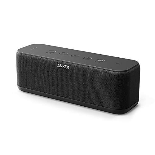 *Anker SoundCore Boost Bluetooth Lautsprecher, 20W Bluetooth Speaker mit BassUp Technologie, IPX5 Wasserfest, 12 Stunden Spielzeit und 20m Reichweite, Duale Treiber für Hervorragender Klang & Bass*