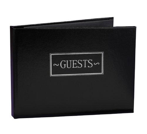 Preisvergleich Produktbild Hortense B. Hewitt Wedding Accessories All Occasion Guest Book,  Black,  7.5-Inches x 5.75-Inches by Sourced