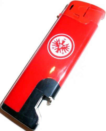 Eintracht Frankfurt Feuerzeug rot mit Flaschenöffner nachfüllbar