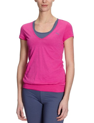 PUMA Damen T-Shirt TP Trend raspberry rose-nightshadow