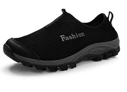 fangsto unisex-adults 'Athletic Mesh traspirante scarpe da corsa ghiaccio Black
