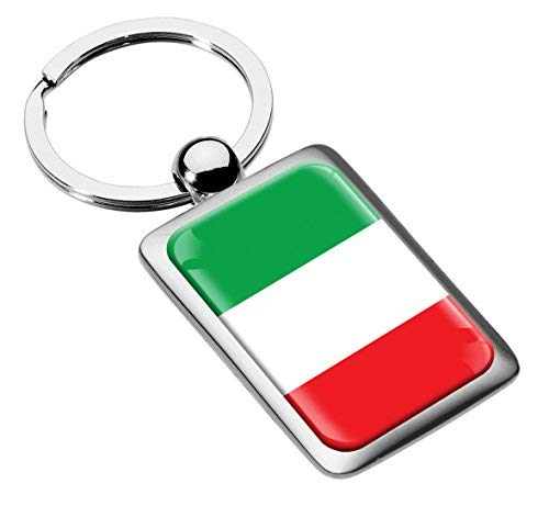 Portachiavi Metallo Bandiera Italia Italy Regalo Auto Moto Sport Hobby Keychain Keyring KK 221