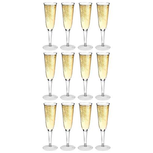 Rink Drink Flutes Champagne en Plastique en Plein air - Pack de 12