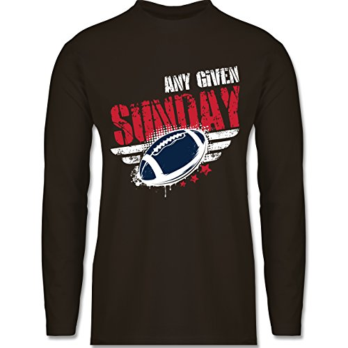 Shirtracer American Football - any Given Sunday Football New England - Herren Langarmshirt Braun