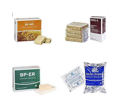 Emergency Food, Sortiment 4 x 500Gramm, BP WR, BP ER, NRG-5, SEVEN OCEANS, Langzeitnahrung, Prepper, Krisenvorsorge, Camping