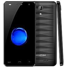 "Smartphone 4G Libre Baratos, HOTMOTM HT26 Android 7.0 Móviles de 4.5"" (MTK6737 1.3Ghz Quad core, 5MP Cámara, 8GB ROM, 2300mAh batería, OTG, Gestos inteligentes,Dual Sim) (Negro)"