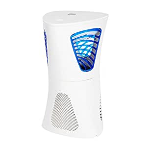 Insect Killer Electronic LED Ultraviolet Light Bug Zapper Photocatalyst UV Mosquito Trap Killer Mosquito Lamps Chemical-free with Vacuum Fan for Indoor Home Office Use,Insect Fly Trap White by Fochea
