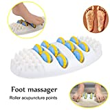 Large Dual Foot Massager Roller - Plantar Fasciitis, Heel, Arch Pain Relief -Enhanced Model 2019- Stress Relief, Relaxation Gift