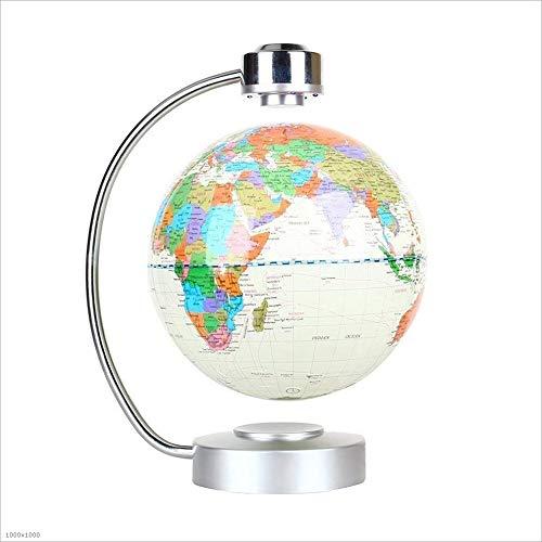 RACKQI Welt Magnetschwebebahn-Kugel 8 Zoll-Rotations-Licht-Büro-Dekorations-Globen 360 drehender