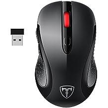 PC Maus, TOPELEK Laptop Maus Mini Schnurlos Maus Wireless Mouse Optical Business Mouse USB Funkmaus Optische Mäuse 2.4 G 2400 DPI Drahtlose Maus mit Nano-Receiver, 6 Tasten, Energiesparender Schlafmodus Für PC Laptop iMac Macbook Microsoft Pro, Office, Home.