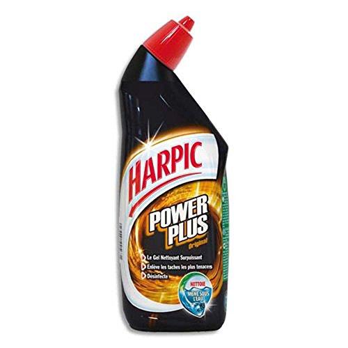 Lot de 2 Gels wc Harpic Power Plus surpuissant désinfectant 750ml même sous l'eau