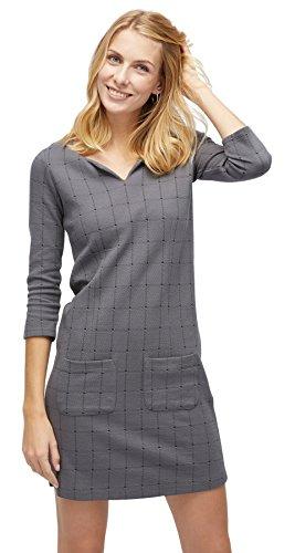 TOM TAILOR für Frauen Kleider & Jumpsuits kariertes Kleid Coal Grey 38