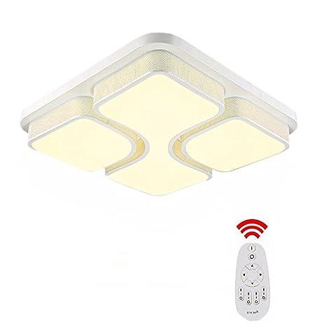 SAILUN® 36W LED Modern Deckenleuchte Dimmbar Deckenlampe Panel Lampe Energiespar Licht für Wohnzimmer Wandlampe Acryl-Schirm lackierte Rahmen Durchbohrte Design Weiß (36W (Einfache Bogen)