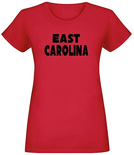 Ost-Carolina - East Carolina T-Shirt Top Short Sleeve Jersey for Women 100% Soft Cotton Womens Clothing X-Large (Carolina-shirt East)