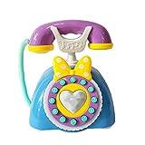 Niedliche Kinder Simulation Prinzessin Telefon Spielzeug Festnetz-Blau