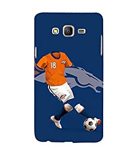 PrintVisa Football Player Horse 3D Hard Polycarbonate Designer Back Case Cover for Samsung Galaxy On5 Pro
