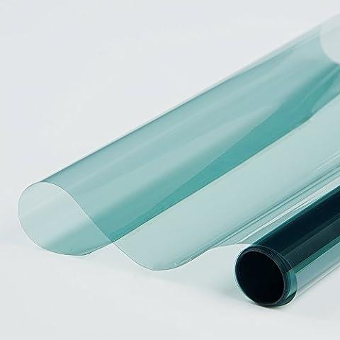 [Hoho] Medium Blue Colle film solaire teinté film pour vitres de voiture et maison infrarouge rejet et rejet UV 152cmx50cm