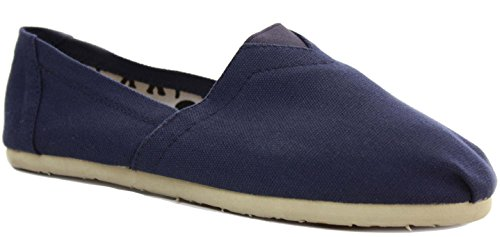 Boys Mens Espadrilles Classic Pumps Canvas Plimsolls Trainers Flat Slip on Shoes Size 3-8