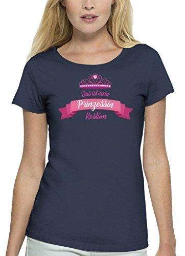 Fasching Karneval Premium Damen T-Shirt Bio Baumwolle Das ist mein  Prinzessin Kostüm 2 Navy