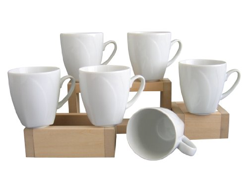 CreaTable, 13165, Serie Célebration Blanc, 6 Mugs de 30 cl