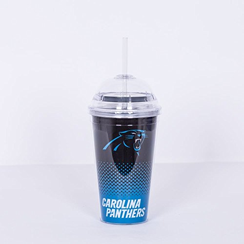 Forever Collectibles NFL Carolina Panthers Fade Tumbler - Carolina Panthers Travel Mug