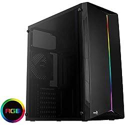 Aerocool SPLIT, boîtier PC, ATX, panneau acrylique, modes RGB 13, ventilateur 12cm