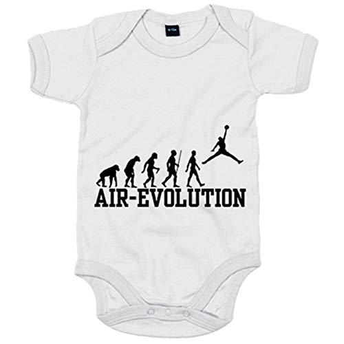 Body bebé Air Jordan Evolution - Blanco, 6-12 meses